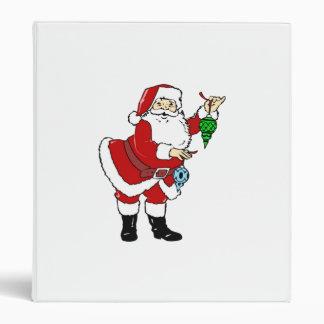 Christmas Santa Claus and Ornaments Vinyl Binders