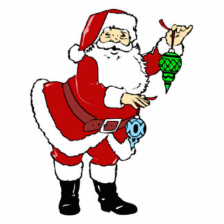 Christmas Santa Claus and Ornaments Photo Cut Outs