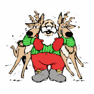 Christmas Santa Claus and Reindeer Cut Outs