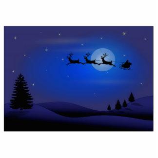 Christmas Santa Claus and Reindeer Photo Cutouts