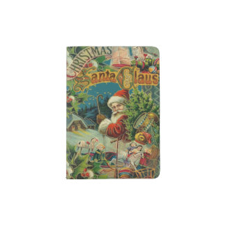 Christmas Santa Claus Antique Vintage Victorian Passport Holder