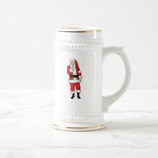Christmas Santa Claus Beer Stein