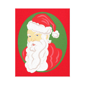 Christmas Santa Claus Cameo Canvas Print