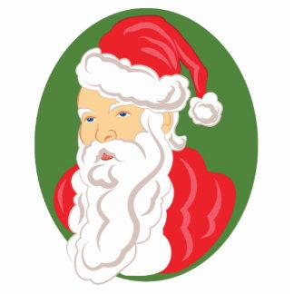 Christmas Santa Claus Cameo Standing Photo Sculpture