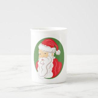 Christmas Santa Claus Cameo Tea Cup