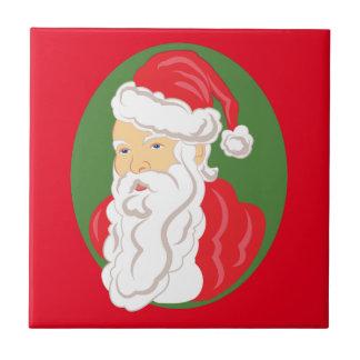 Christmas Santa Claus Cameo Tile