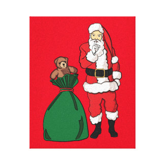 Christmas Santa Claus Canvas Print