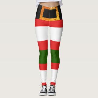 Christmas Santa Claus Clothes themed Leggings