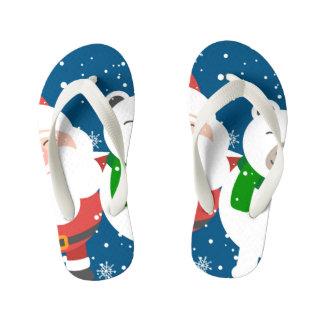 Christmas Santa Claus Custom Flip Flops, Kids Kid's Flip Flops