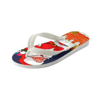 Christmas Santa Claus Flip Flops, Kids Kid's Flip Flops
