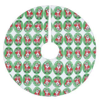 Christmas Santa Claus HO HO HO! 4.0.8 Brushed Polyester Tree Skirt
