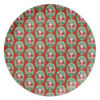 Christmas Santa Claus HO HO HO! 4.0 Plate