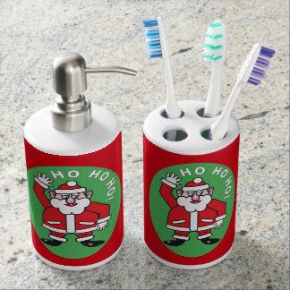 Christmas Santa Claus HO HO HO! 4.0 Soap Dispenser And Toothbrush Holder