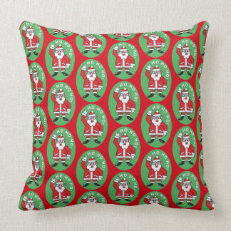 Christmas Santa Claus HO HO HO! 4.0 Throw Pillow