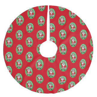 Christmas Santa Claus HO HO HO! 4.4 Brushed Polyester Tree Skirt