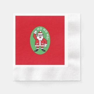 Christmas Santa Claus HO HO HO! 4.4 Disposable Napkins
