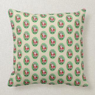 Christmas Santa Claus HO HO HO! 4.5 Throw Pillow