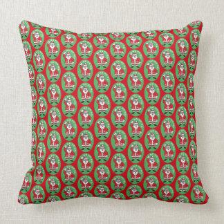 Christmas Santa Claus HO HO HO! 4.6 Throw Pillow