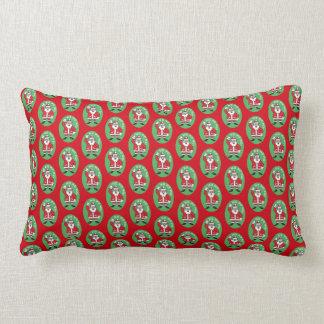 Christmas Santa Claus HO HO HO! 4.8 Lumbar Pillow