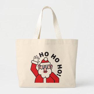 Christmas Santa Claus HO HO HO! Large Tote Bag