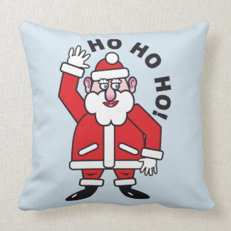 Christmas Santa Claus HO HO HO! Throw Pillow