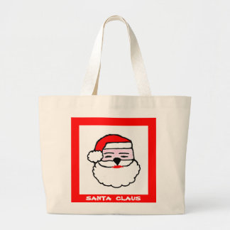 Christmas Santa Claus Large Tote Bag