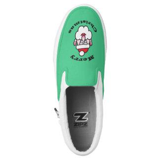 Christmas Santa Claus, Merry Christmas Slip-On Sneakers
