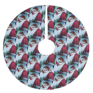 CHRISTMAS SANTA CLAUS MOUSE tree skirt