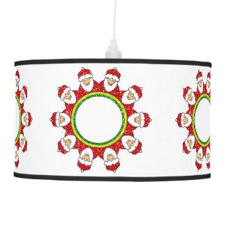 Christmas Santa Claus Pendant Lamp Light