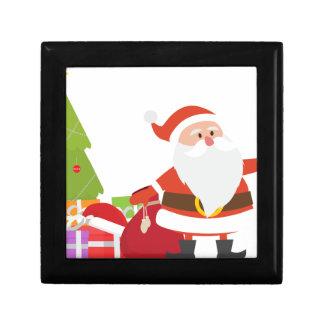 Christmas Santa Claus Presents Gift Cute Cartoon Keepsake Boxes