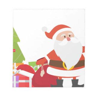 Christmas Santa Claus Presents Gift Cute Cartoon Notepad