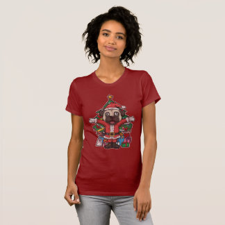 Christmas Santa Claus Pug T-Shirt