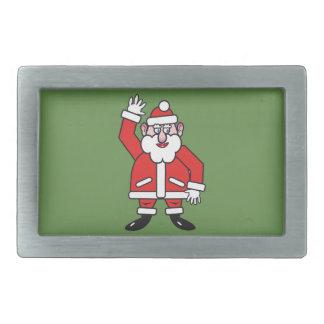 Christmas Santa Claus Rectangular Belt Buckle