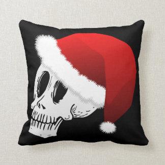 Christmas Santa Claus Skull Throw Pillow
