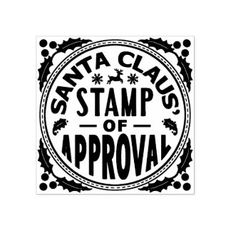 Christmas Santa Claus Stamp of Approval Funny v2
