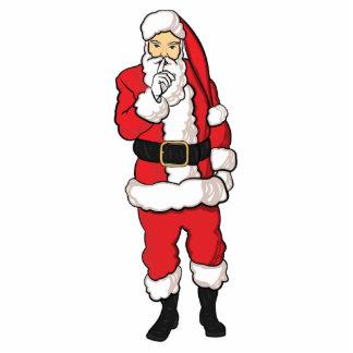 Christmas Santa Claus Standing Photo Sculpture