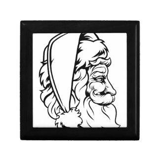 Christmas Santa Claus Woodcut Style Gift Boxes