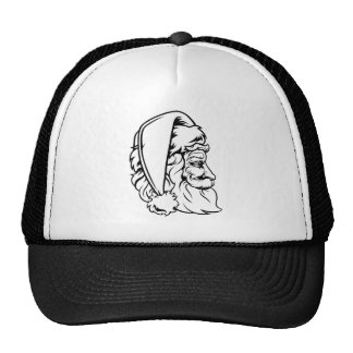 Christmas Santa Claus Woodcut Style Trucker Hat