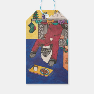 Christmas Santa Claws (Claus) Cat Gift Tags