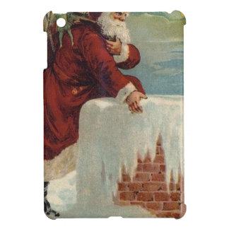Christmas -  Santa Coming Down the Chimney iPad Mini Cases