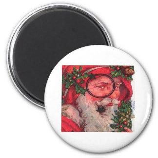 Christmas Santa - Customizable Fridge Magnet