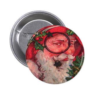Christmas Santa - Customizable Pinback Button