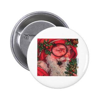 Christmas Santa - Customizable Pinback Buttons