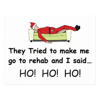 Christmas Santa Funny Postcard