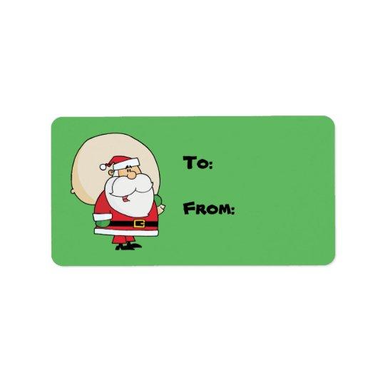 Christmas Santa Gift Tag Label