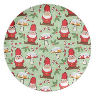 Christmas Santa Gnomes Design Plate