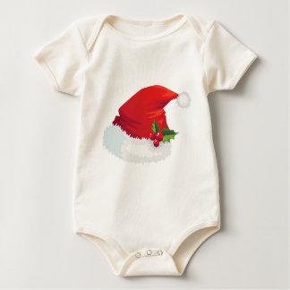 Christmas Santa Hat Baby Bodysuit