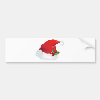 Christmas Santa Hat Bumper Sticker