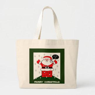 Christmas Santa Ho Ho Ho Large Tote Bag