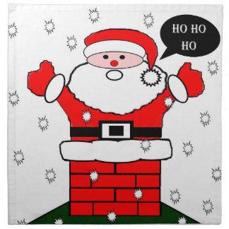 Christmas Santa Ho Ho Ho Printed Napkins